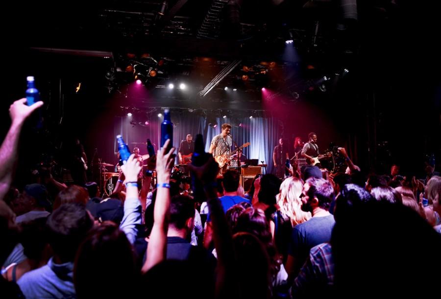 John Mayer Performs at Bud Light Dive Bar Tour with Alessia Cara