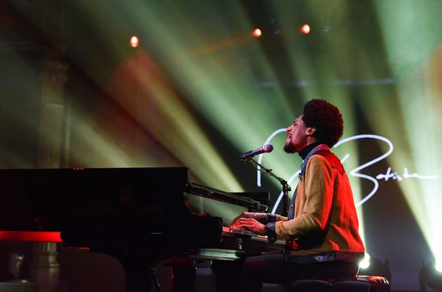 American Musician Jon Batiste Who Is Known As A Bandleader Of The Late Show With Stephen Colbert Performed Dont Stop And What Wonderful World On