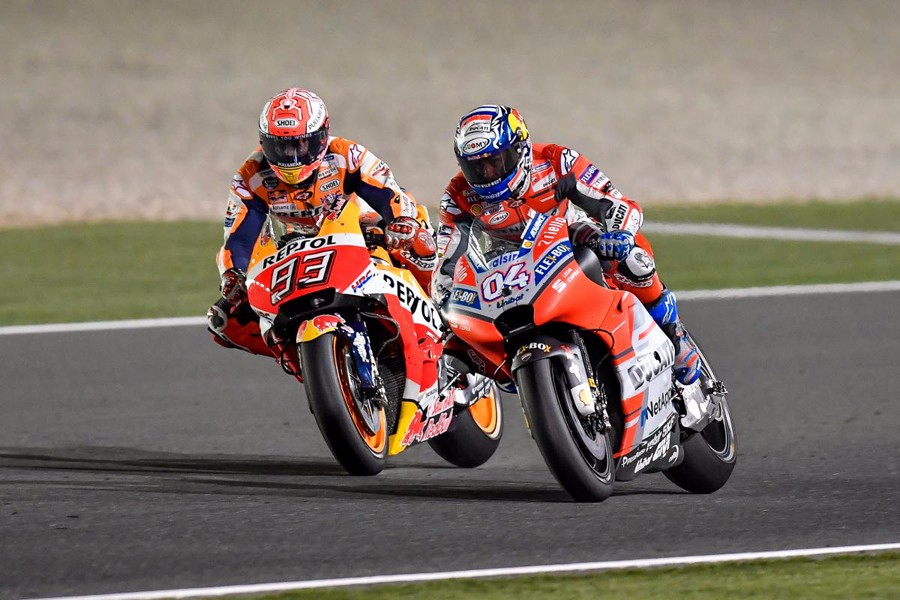 Motogp Qatar Ducatis Andrea Dovizioso Took Victory In A First